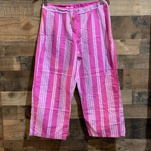 Victoria's Secret Pink Purple Striped Pajama Pants